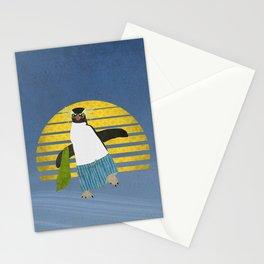 Northern Rockhopper Penguin on Spring Break Stationery Cards