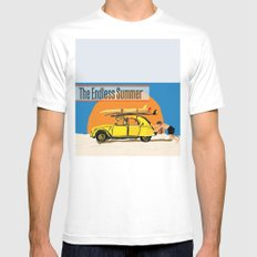 An Endless Summer bummer SMALL White Mens Fitted Tee