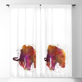 Mammoth dinosaur in watercolor Blackout Curtain