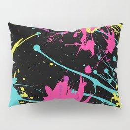 Splatter Paint Black Pillow Sham