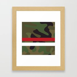 Pattern Army Camouflage Framed Art Print