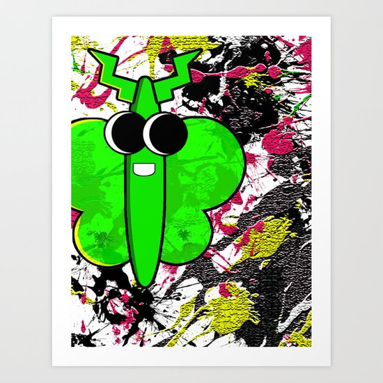 Moth Splat Art Print