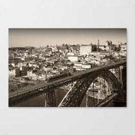 Porto sepia Canvas Print