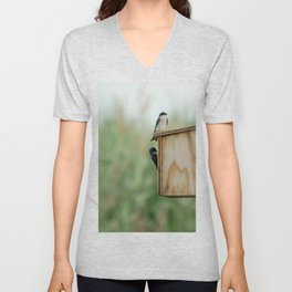 Birds at New Jersey Meadowlands Nature Preserve Unisex V-Neck