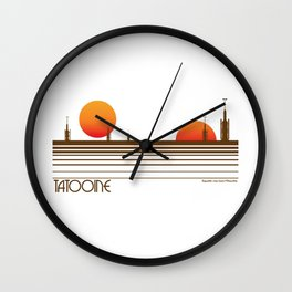 Visit Tatooine T-Shirt Wall Clock