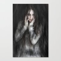 vampire Canvas Prints featuring Vampire by Justin Gedak