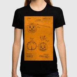1907 Halloween Patent Jack O' Lantern Orange T-shirt