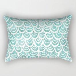 Watercolor Mermaid Turquoise Rectangular Pillow