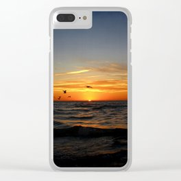 Sunrise 100717 Cove Point Lighthouse, Lusby, MD Clear iPhone Case