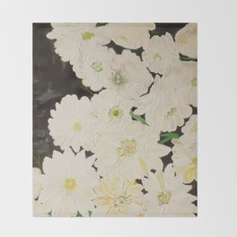 Midnight Blossoms Throw Blanket
