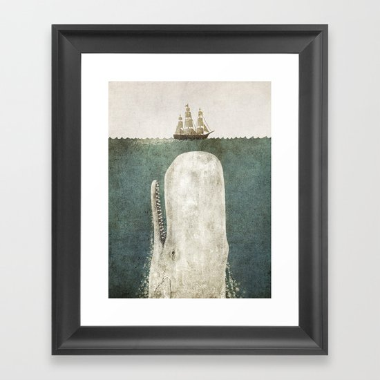 The Whale - vintage option Framed Art Print
