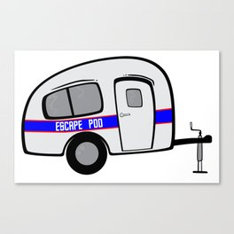 Escape Pod Camper Canvas Print