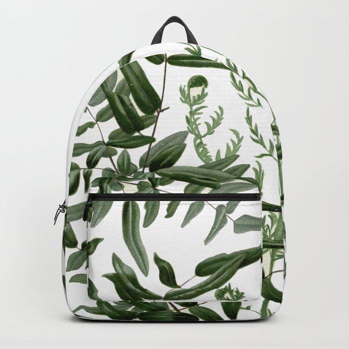 Leafy fern leaves Backpack