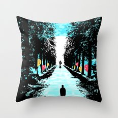 Lonely Walk Throw Pillow