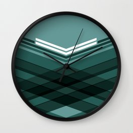 Blue Stripes Wall Clock