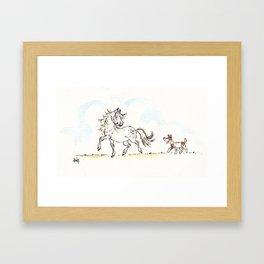 Horses and Hounds Framed Art Print