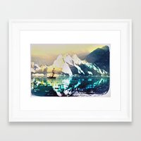 fishing Framed Art Prints featuring fishing by KrisLeov