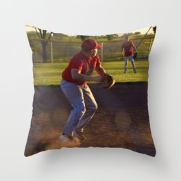 Baseball Action Throw Pillow