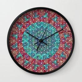 Psychelic Bandana Pattern Wall Clock