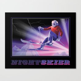 Nightskier Canvas Print