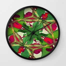 Floral Print Colorful Pattern Wall Clock