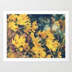 Sunny Autumn Breezes Art Print