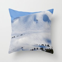 Back-Country Skiing  - III Throw Pillow