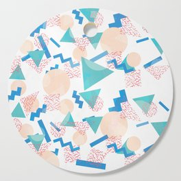 90's Pastel Geometric Pattern Cutting Board