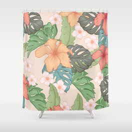 Sweet Pink Blooms Shower Curtain