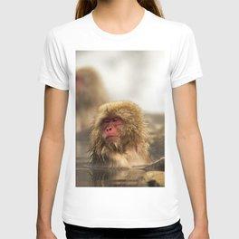 Snow Monkeys on Hot Spring T-shirt