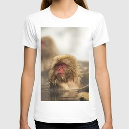 Snow Monkeys on Hot Spring T-shirt