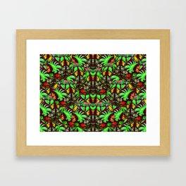 Botanica Insopitus Retro Framed Art Print