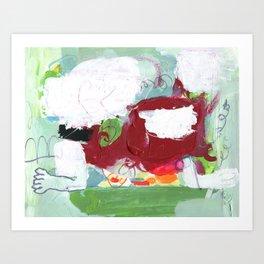 BOUNCY SEAT Art Print
