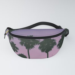 SILHOUETTE OF TREES DURING GOLDEN HOUR Fanny Pack