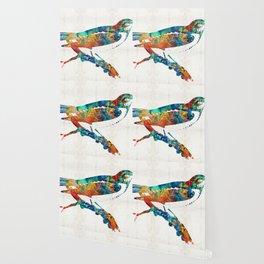 Colorful Bird Art - Sweet Song - By Sharon Cummings Wallpaper