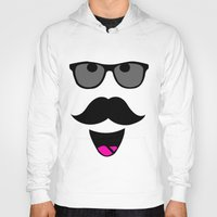 mustache Hoodies featuring Mustache by siti fadillah