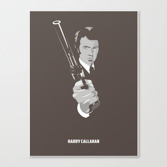 Harry Callahan - Clint Eastwood Canvas Print
