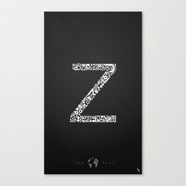 """Z"" of The World Font Canvas Print"