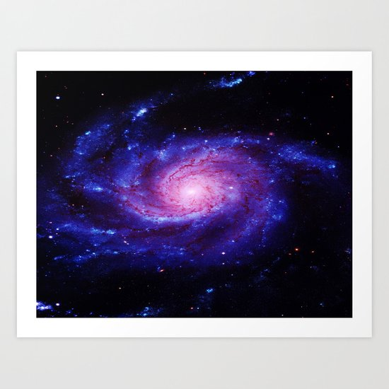 Spiral gAlAxy : Purple Blue Art Print