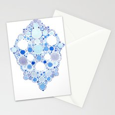 Blue Watercolor Dots Stationery Cards