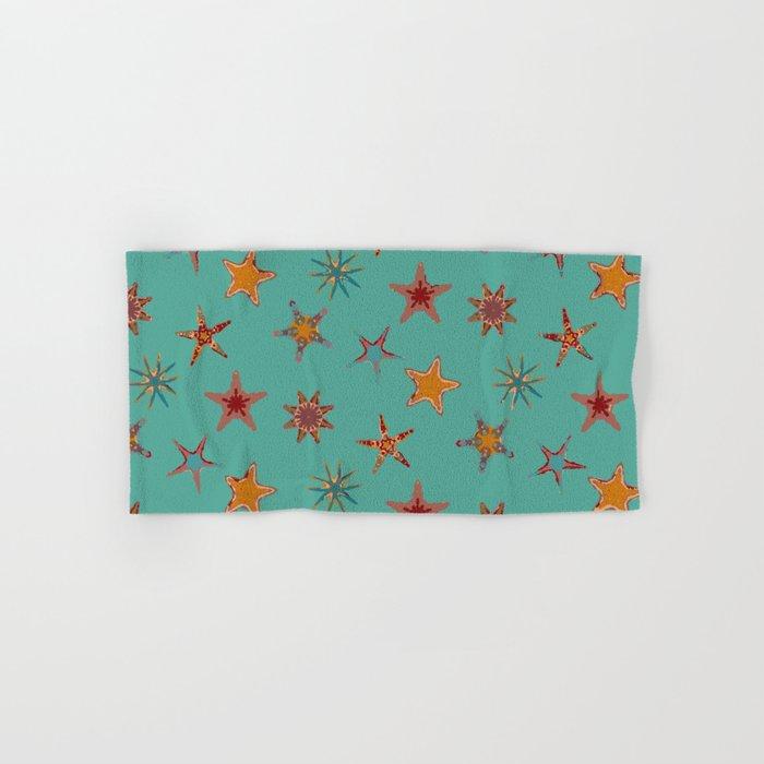 Fish tales: Starfish pattern 1c Hand & Bath Towel