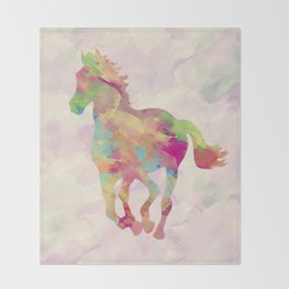 Abstract horse Throw Blanket