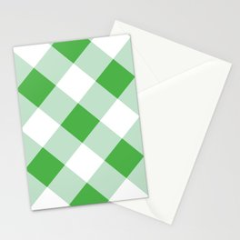 Gingham - Green Stationery Cards