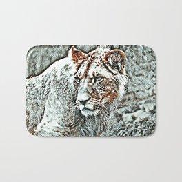 NewArt Animal Lion Bath Mat