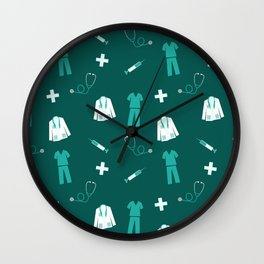 Medical Professional Pattern Wall Clock