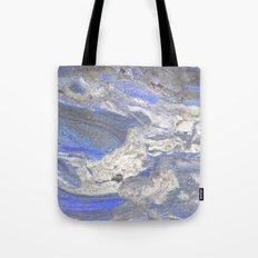 Arabescato-Orobico-Blue-Marble Tote Bag