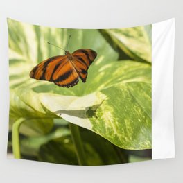 Butterfly Take-Off Wall Tapestry