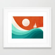 Wave (night) Framed Art Print
