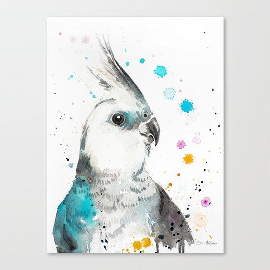 Cockatiel parrot Canvas Print