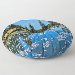 By The Lake Floor Pillow